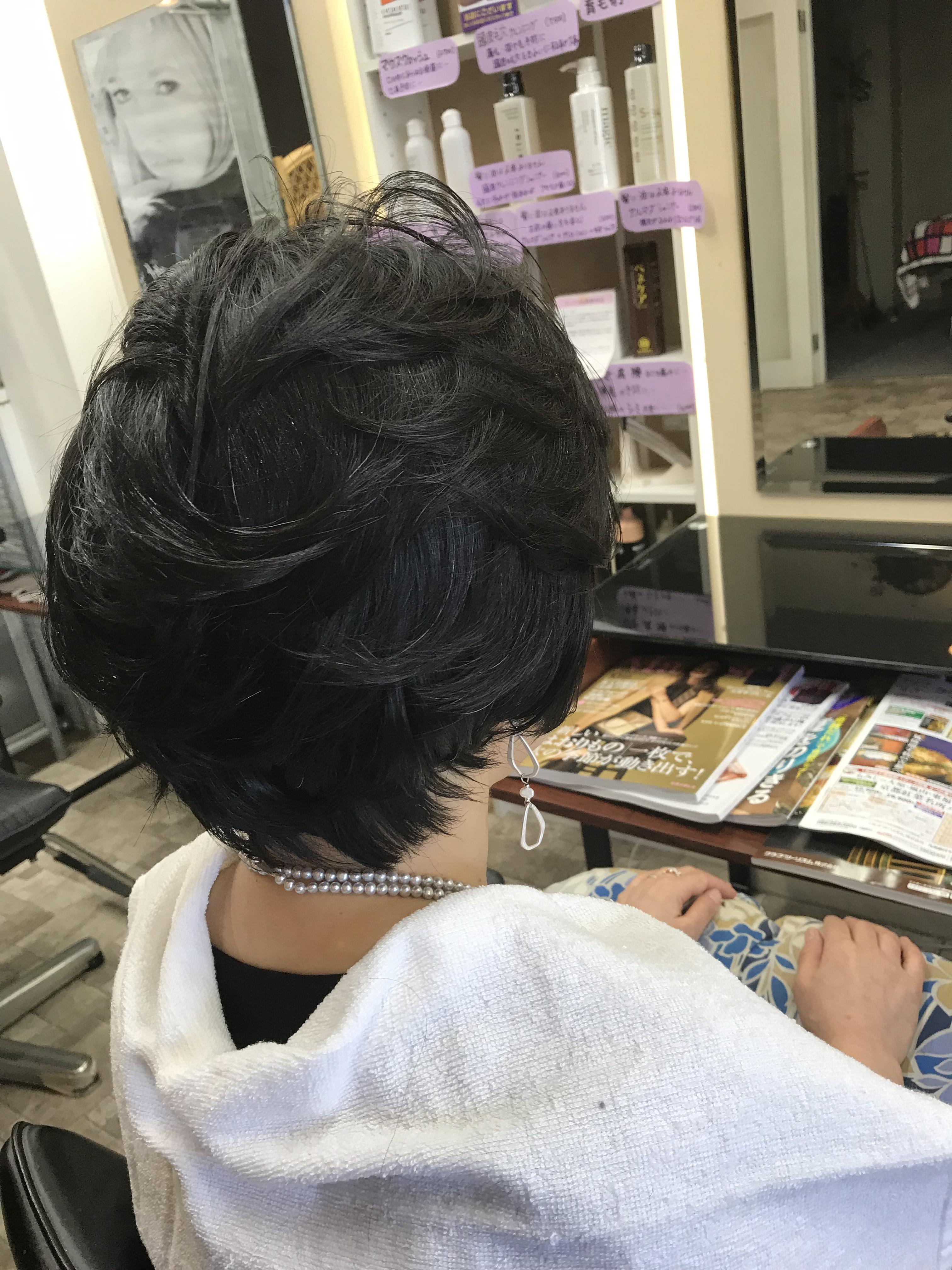 結婚式、髪が短くてもカールで華やかに❣️
