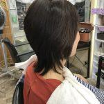 何をするにも面倒くさいと仰るお客様、直毛でボリュームが出にくい髪をカットだけで簡単に楽しめるスタイルへ
