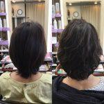 直毛、髪が細くてぺったんこの悩みもくせ毛カットが改善。