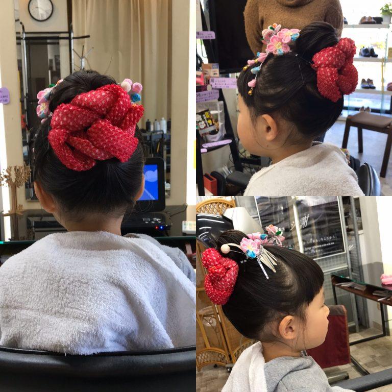 七五三は日本髪が可愛い〜💕