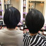 髪が少なくて直毛、頭の形が出やすい方にキュビズムカット❣️