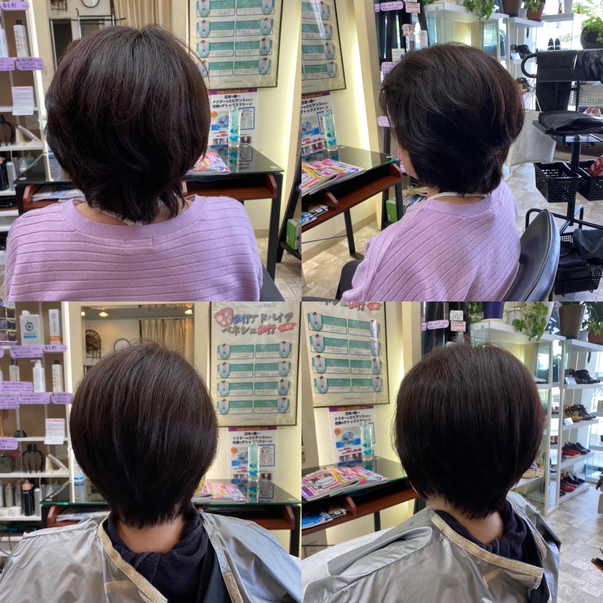 髪が多くて剛毛、すきバサミ無しの良さ