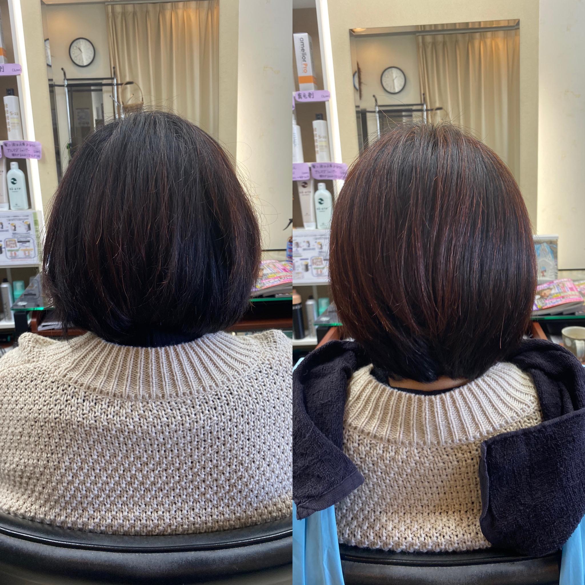 矯正ストレートをかけなくても、くせ毛が気にならなくなった