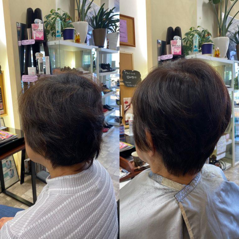 髪の根元を立ち上げる事にこだわります