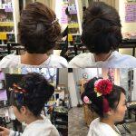 着物の日のヘアスタイル