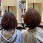 髪の悩みを改善する、丸いボブ