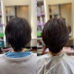 細い髪をふんわりと