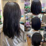 髪が太くて多い、大きくうねるくせ毛の髪を乾かすだけでまとまる髪に