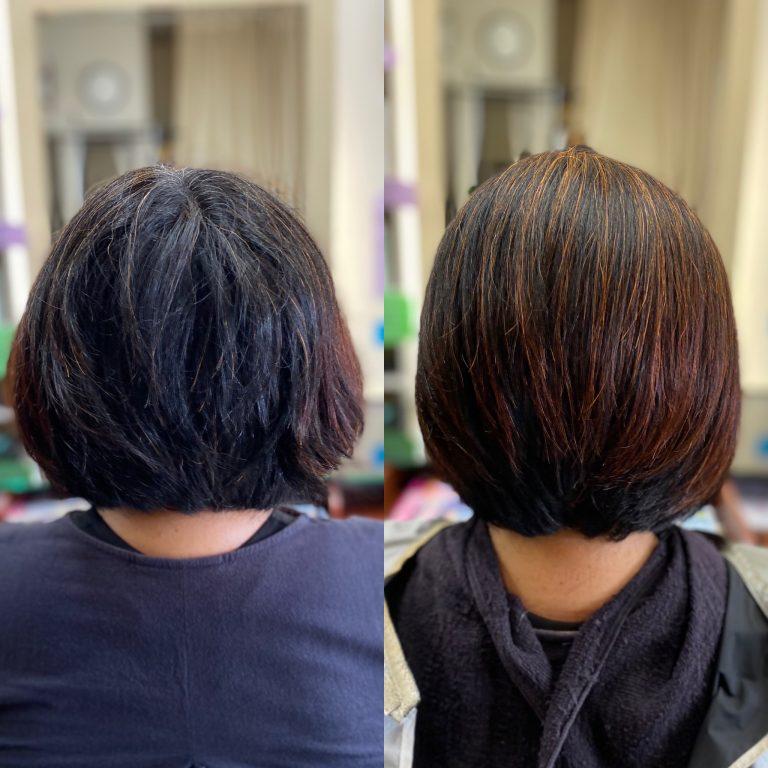 横広がりになる髪を、すきバサミなしでボリュームダウン